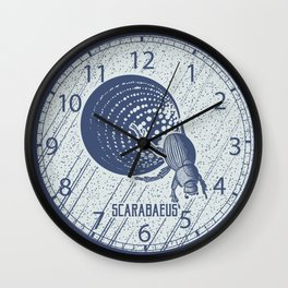 Insect's badge. Scarabaeus. Wall Clock