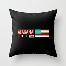 Patriotic Colors: Alabama Throw Pillow