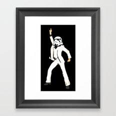 saturday night trooper _ star wars Framed Art Print
