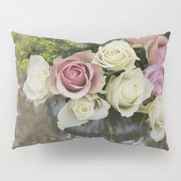 Rose Bouquet in a Vase Pillow Sham