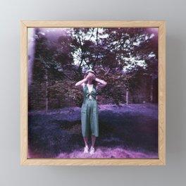 Girl in a Lavender World - Holga Film Photograph Framed Mini Art Print