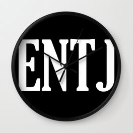 ENTJ Personality Type Wall Clock