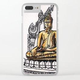 Bangkok : Golden Buddha in Wat Traimit Clear iPhone Case