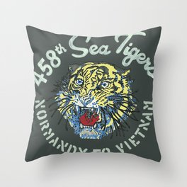 458th Sea Tigers Throw Pillow