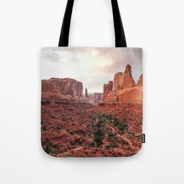 Fire Red Rock Formations in Utah Tote Bag