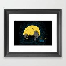 Fisher Fish Framed Art Print