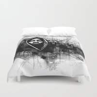 2pac Duvet Covers featuring 2Pac Illustration by Skillmatik by Mr Skillmatik