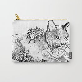 Cat and acacias Carry-All Pouch