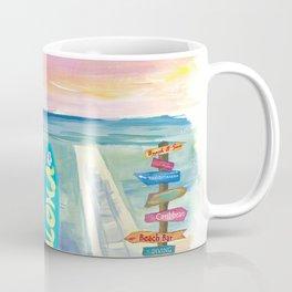 Surfboard Philosophy  - Enjoy Life, Travel and Surf - Surfboard Wall Coffee Mug