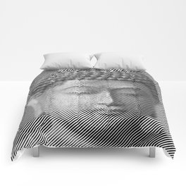 Buddha Face Statue Comforters