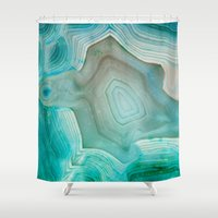 pink floyd Shower Curtains featuring THE BEAUTY OF MINERALS 2 by Catspaws