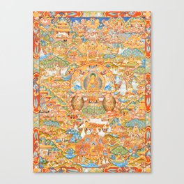 Mandala Buddhist 14 Canvas Print
