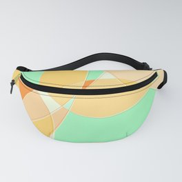 Abstract Wavy Visual Graphic Design V.4 Fanny Pack