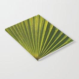 Green Plam Leaf Notebook