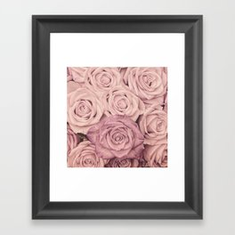 Some People Grumble - Pink Rose Pattern - Roses Framed Art Print