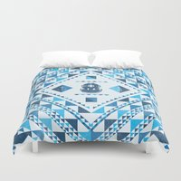 diver Duvet Covers featuring Diver by parallelish