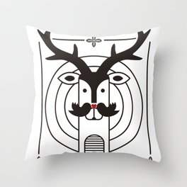 "Deardeer ""Kiss"" Throw Pillow"