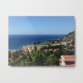 Seaside Coastal Villa Metal Print