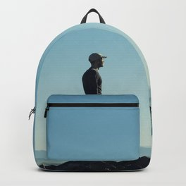 Alone in the blue summit Backpack