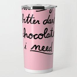 BITTER DARK CHOCOLATE Travel Mug
