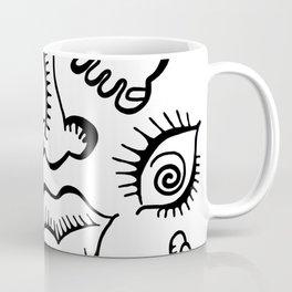 anatomy icons shapes ear lips Coffee Mug