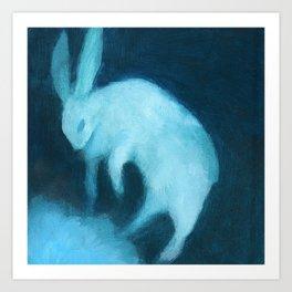 Ghost Bunny adrift Art Print