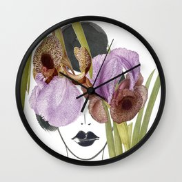 Look through the Flowers 5 Wall Clock