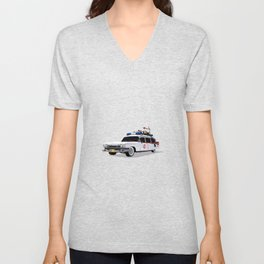 Ghostbusters Illustrated Ecto 1 Unisex V-Neck