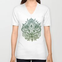 jungle V-neck T-shirts featuring Jungle by Allison Fortuna