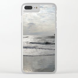 On A Stormy Winterday Clear iPhone Case