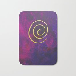 Deep Purple - Infinity Series With Gold Bath Mat