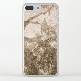 Vintage delicate tree pattern Clear iPhone Case