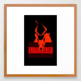 Endangered Addax Framed Art Print