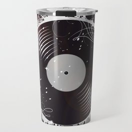 Retro record Travel Mug