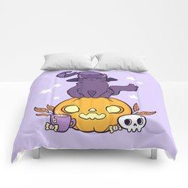 Pumpkin Cat Comforters