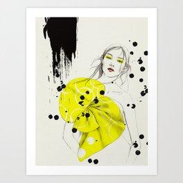Girl in Yellow Dress Art Print