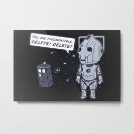 Delete! Metal Print
