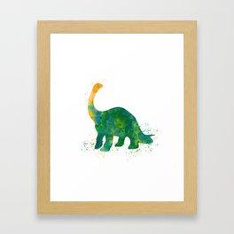 Watercolor Apatosaurus Dinosaur Wall Print Framed Art Print