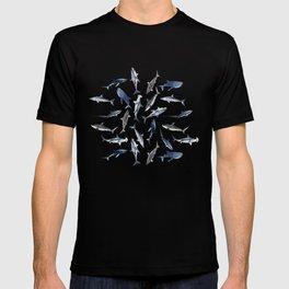 SHARKS PATTERN (NAVY BLUE) T-shirt