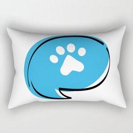 Animal Rescue Talk Logo Rectangular Pillow