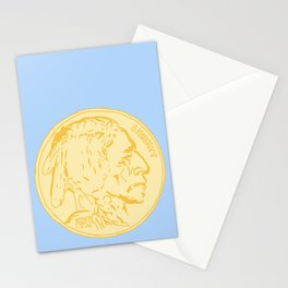 Yellow Antique Nickel Stationery Cards
