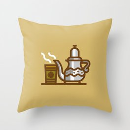 Arabic Tea time Throw Pillow