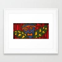 tiki Framed Art Prints featuring Tiki by Shaylah Lukas Art