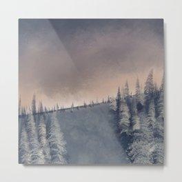 Tree Landscape 1 - Watercolor Metal Print