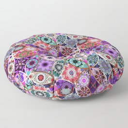 Moroccan bazaar | purple Floor Pillow