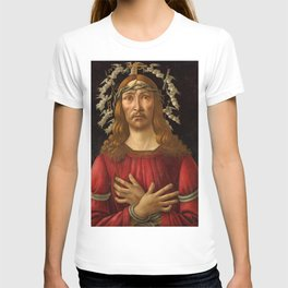 "Botticelli ""Christ as Man of Sorrows with a Halo of Angels"" T-shirt"