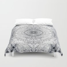 Black&white Mandala - & Grey Blue Duvet Cover