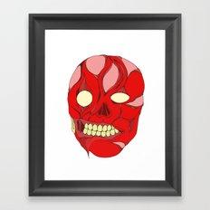 Naked Face Framed Art Print