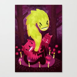 Cute and Gruesome Canvas Print