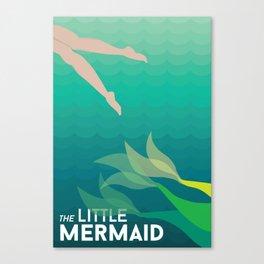 Swimming Away Canvas Print